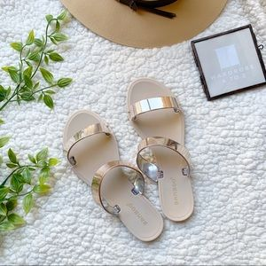 Rose Gold Bamboo sandals